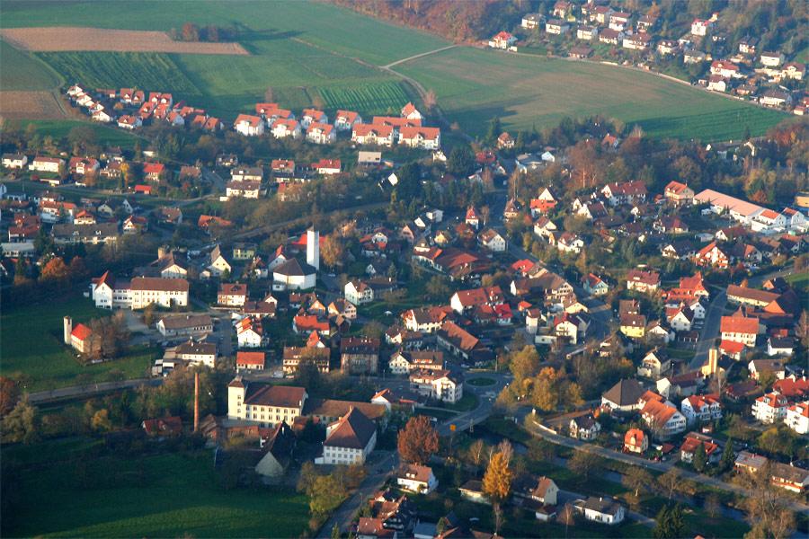 Luftbild Ortsteil Mühlhofen