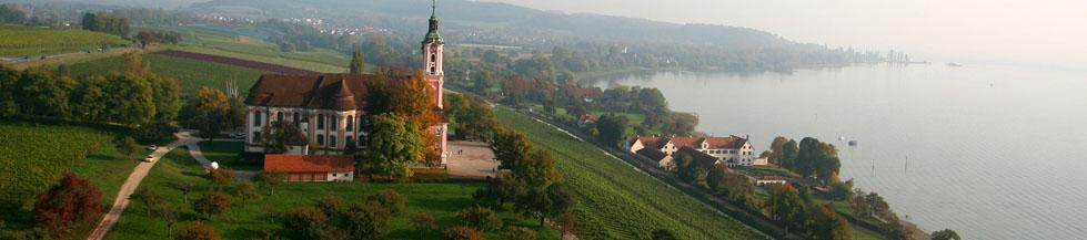 Klosterkirche Birnau mit Schloss Maurach