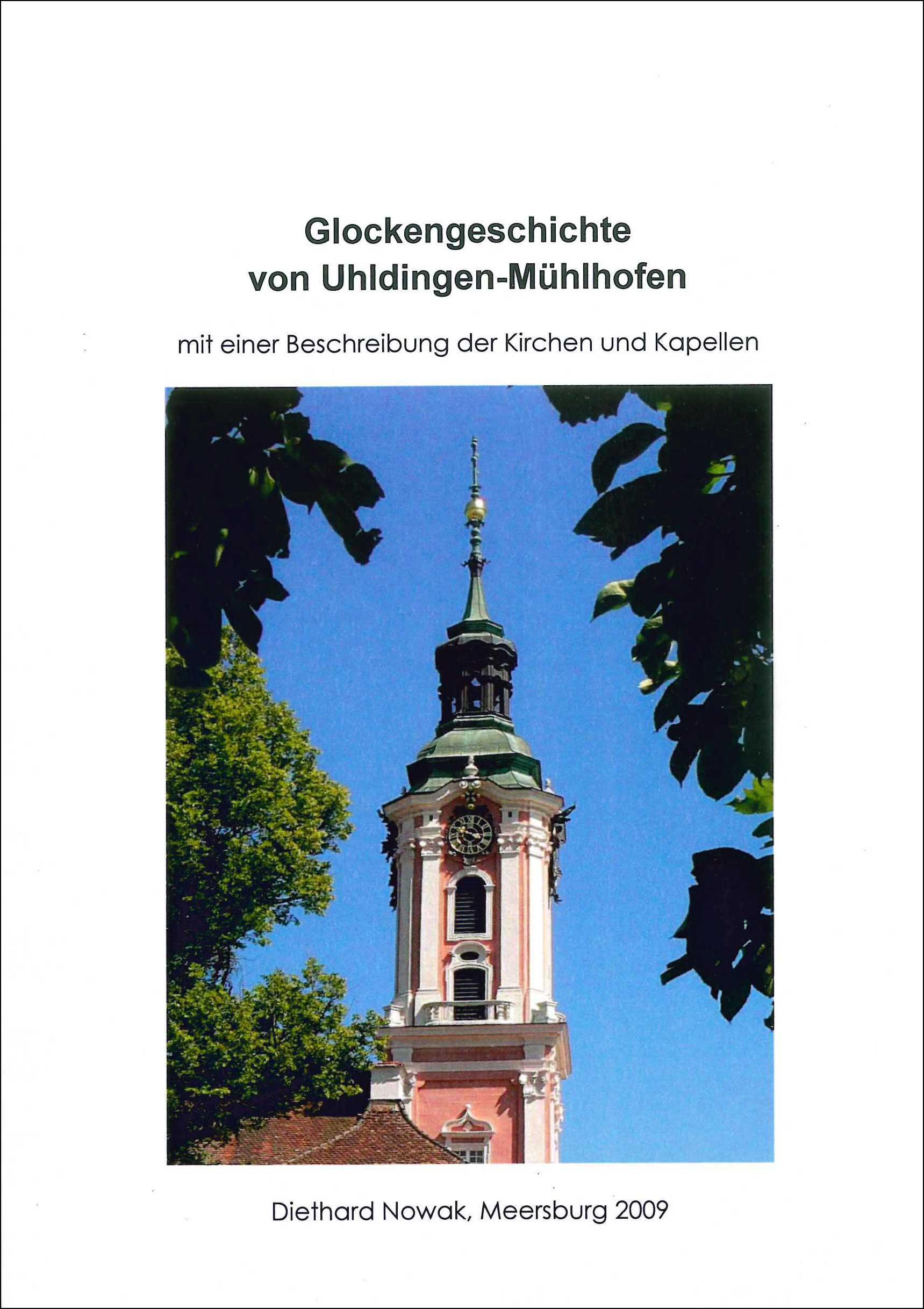 Buchvoderseite mit dem Glockenturm von Birnau