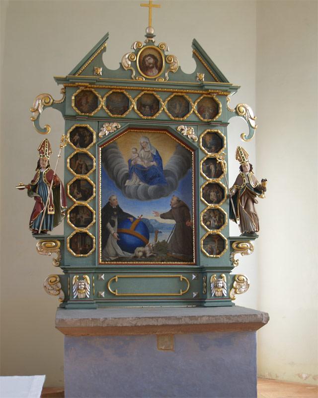 Altar in der St. Nikolaus Kapelle