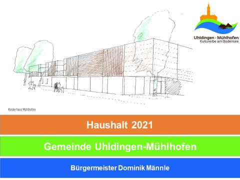 Skizze des geplanten Kinderhauses Sonnenschein mit Logo der Gemeinde